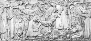 bassorilievo presso il crocifisso
