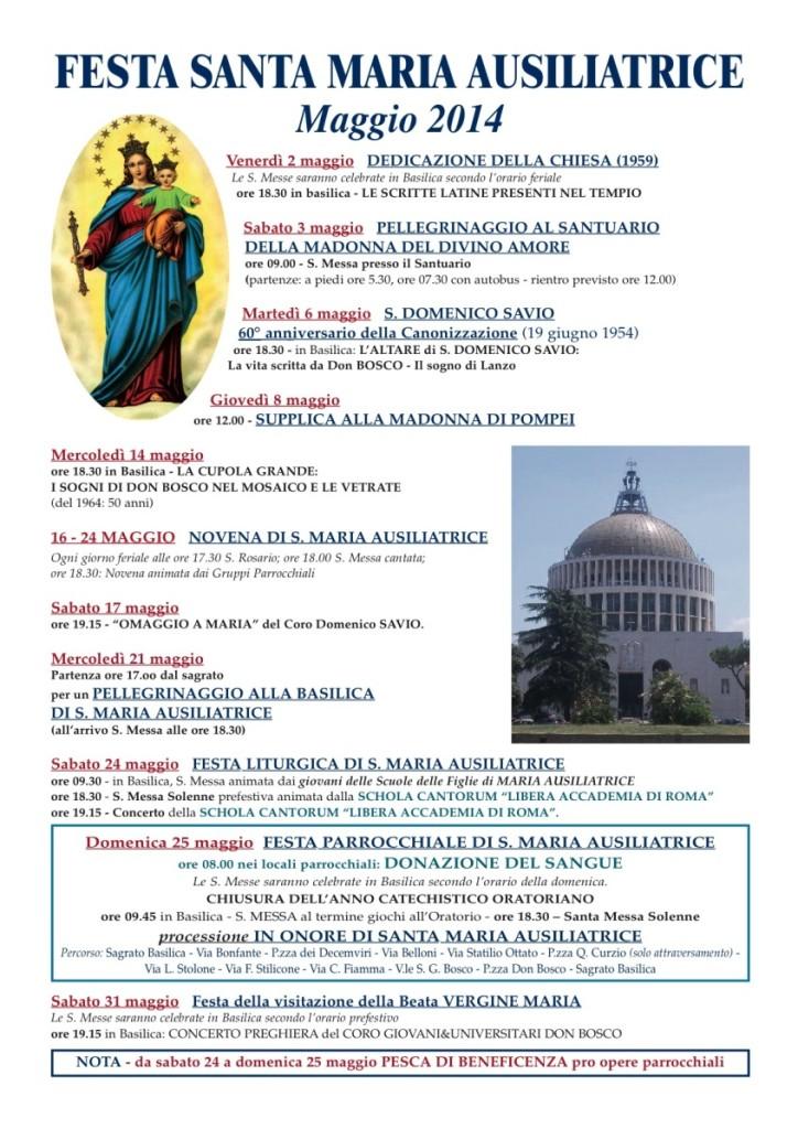 Volantino Festa S.M. Ausilliatrice