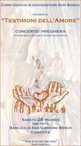 """""""Testimoni dell'amore"""": Concerto - preghiera con il Coro Giovani&Universitari Don Bosco @ Basilica di S. Giovanni Bosco"""