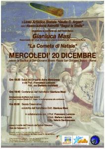 """""""La cometa di Natale"""" : viaggio con l'astrofisico G. Masi @ Basilica di S. G. Bosco"""