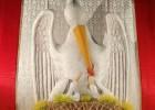 L'altare della reposizione con la storia del Pellicano