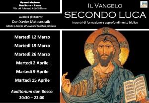 """""""Il Vangelo secondo Luca"""" - ciclo di incontri"""