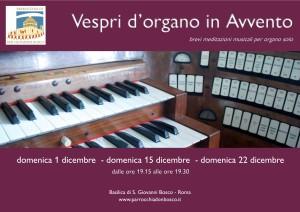Vespri d'organo in Avvento @ Basilica di S. Giovanni Bosco