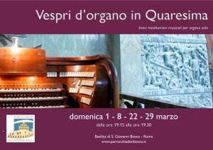 Vespri d'organo in Quaresima @ Basilica di S. Giovanni Bosco