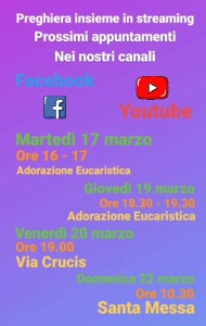 Adorazione Eucaristica in streaming